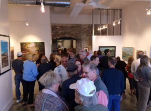 Crowded IceHouse Gallery opening